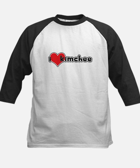 """I Love Kimchee""  Kids Baseball Jersey"