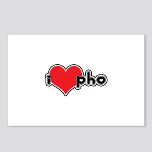 """""""I Love Pho"""" Postcards (Package of 8)"""