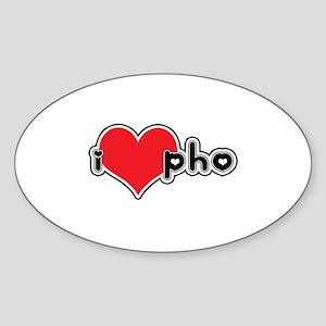 """I Love Pho"" Oval Sticker"