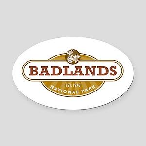 Badlands National Park Oval Car Magnet
