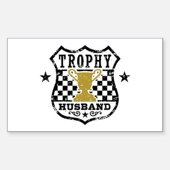 Trophy Husband Sticker (Rectangle)