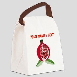 Custom Pomegranate Canvas Lunch Bag
