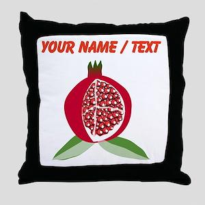 Custom Pomegranate Throw Pillow