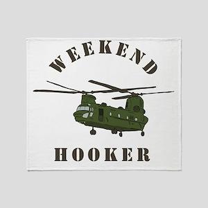 Weekend Hooker Throw Blanket