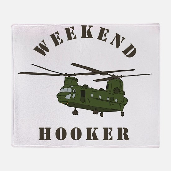 Weekend Hooker Throw Blanket