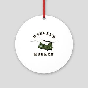 Weekend Hooker Round Ornament