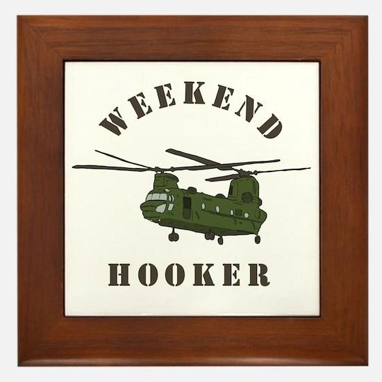 Weekend Hooker Framed Tile