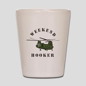 Weekend Hooker Shot Glass