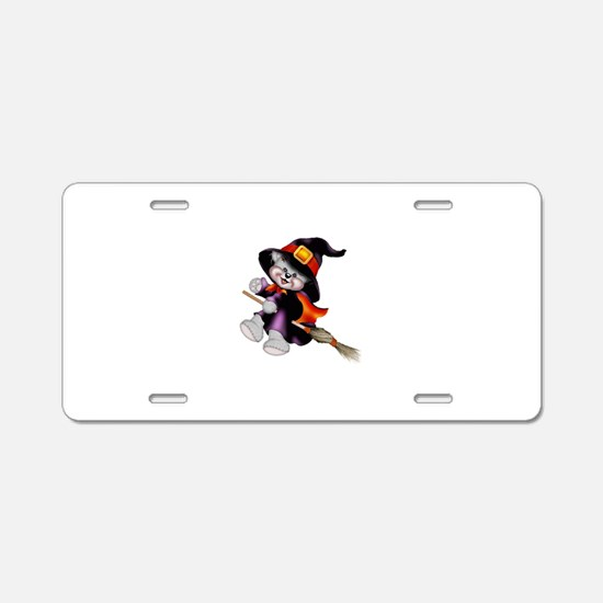 WitchBear Aluminum License Plate