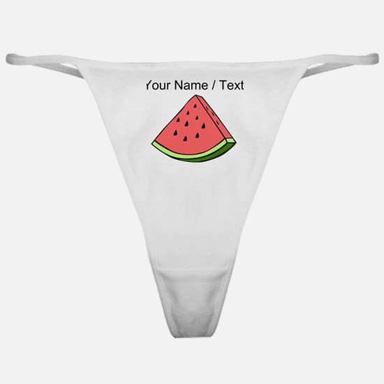 Custom Watermelon Slice Classic Thong