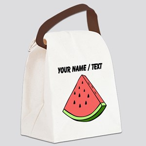 Custom Watermelon Slice Canvas Lunch Bag