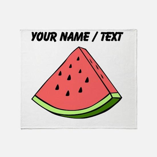Custom Watermelon Slice Throw Blanket