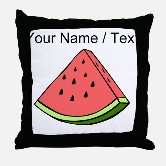 Custom Watermelon Slice Throw Pillow