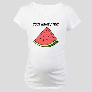 Custom Watermelon Slice Maternity T-Shirt