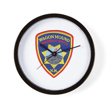 Wagon Mound Marshal Wall Clock