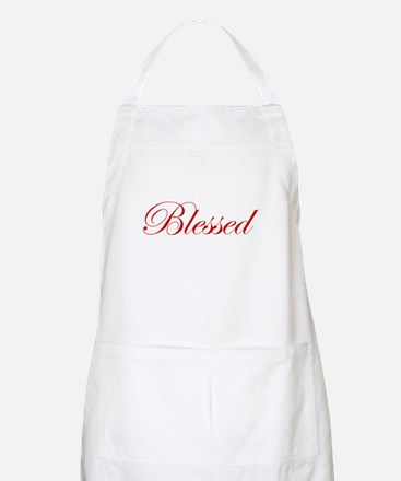 Red Blessed BBQ Apron