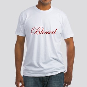 Red Blessed Fitted T-Shirt