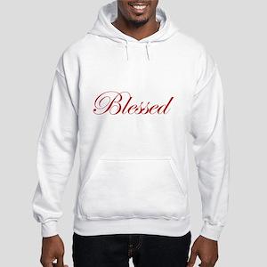 Red Blessed Hooded Sweatshirt