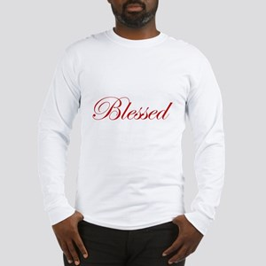 Red Blessed Long Sleeve T-Shirt