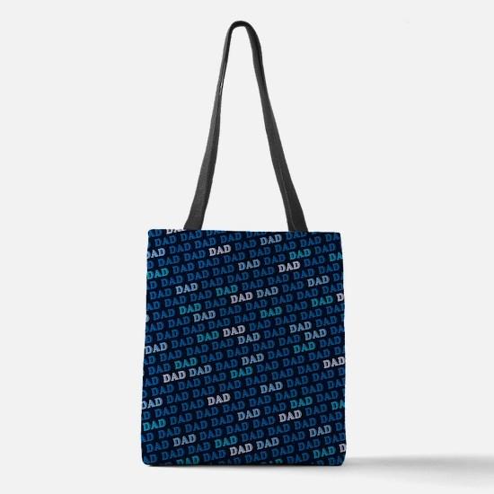 Dad Pattern Polyester Tote Bag