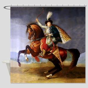 Noble Horseman Shower Curtain