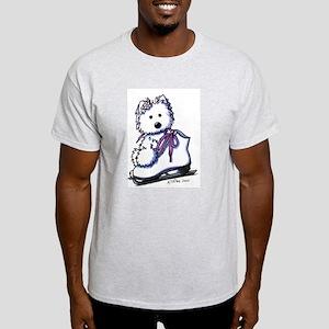 Ice Skate Diva Ash Grey T-Shirt