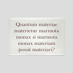 Latin Woodchuck Rectangle Magnet (10 pack)