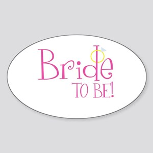 Bride To Be Oval Sticker
