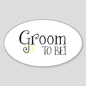 Groom To Be Oval Sticker