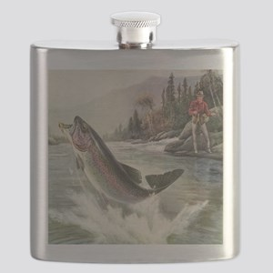 Vintage Fishing, Rainbow Trout Flask