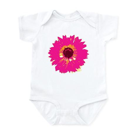 Hot Pink Flower Infant Bodysuit