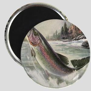 Vintage Rainbow Trout Magnet