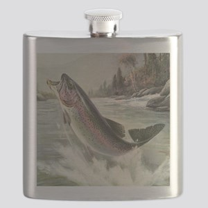 Vintage Rainbow Trout Flask