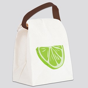 Lime Slice Canvas Lunch Bag
