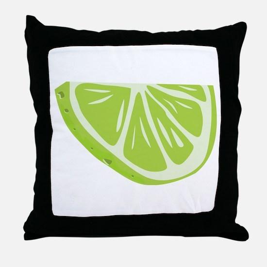 Lime Slice Throw Pillow