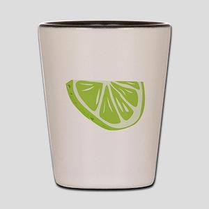 Lime Slice Shot Glass