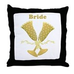 Champagne Bride Throw Pillow