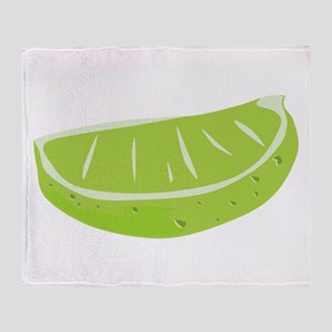 Lime Wedge Throw Blanket