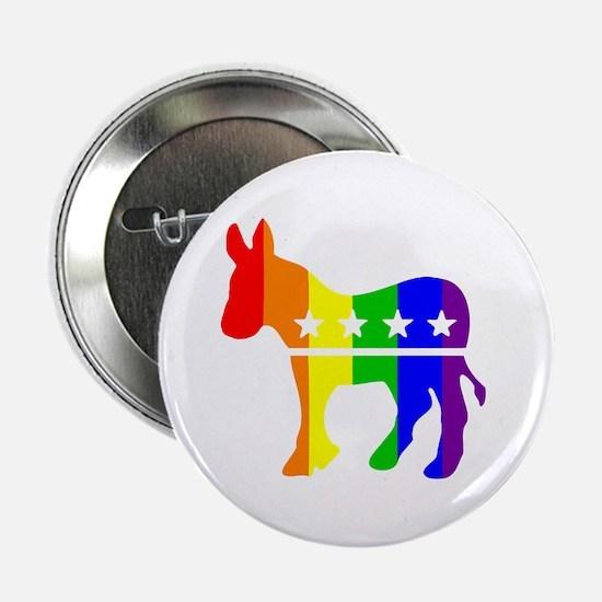 Democratic Pride Button