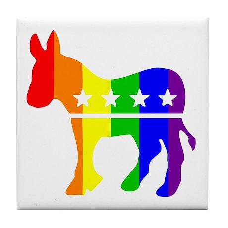 Democratic Pride Tile Coaster