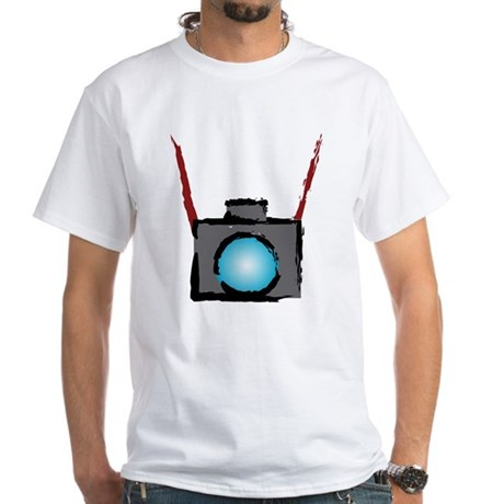 WTD: Camera On White T-Shirt