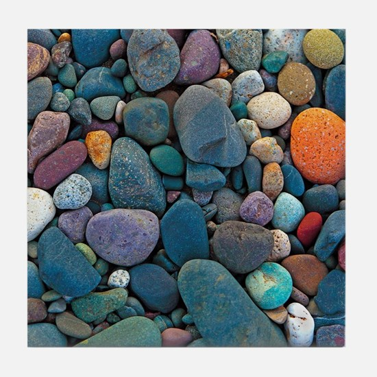 Beach Rocks 2 Tile Coaster