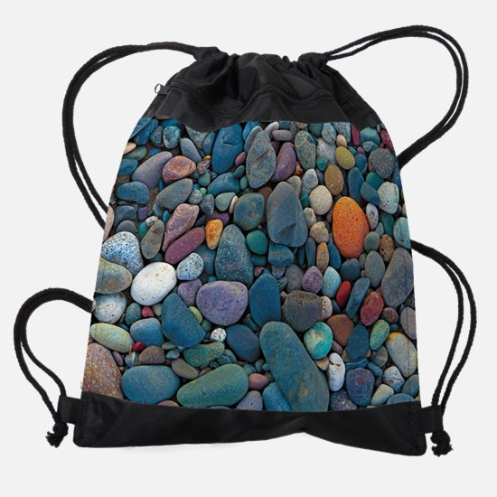 Beach Rocks 2 Drawstring Bag