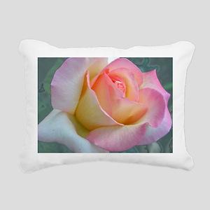 SOFTLY ROSE Rectangular Canvas Pillow