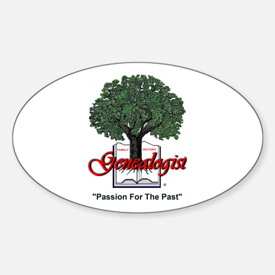 Passion For The Past Sticker (Oval)