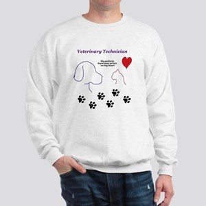 Veterinary Technician-Paw Prints on My  Sweatshirt