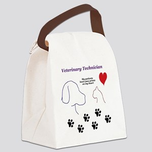 Veterinary Technician-Paw Prints  Canvas Lunch Bag