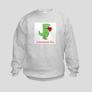 Loveasaurus Rex Kids Sweatshirt