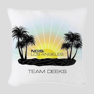 NCISLA Sunset Palms Team Deeks Woven Throw Pillow