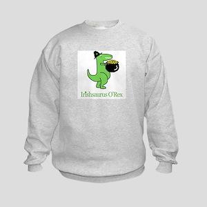 Irishsaurus O'Rex Kids Sweatshirt